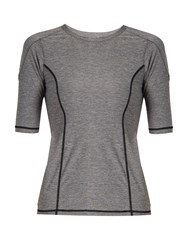The Upside Lolana Panelled Seam Performance T Shirt Grey