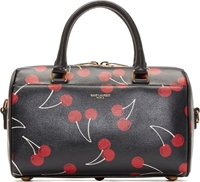Saint Laurent Black And Red Cherry Print Baby Duffle