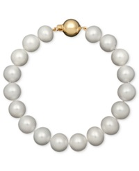 Belle De Mer Cultured Freshwater Pearl Strand Bracelet 9 1 2 10 1 2Mm In 14K Gold