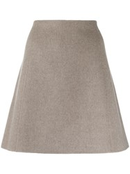 Theory A Line Skirt Grey