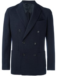 Michael Michael Kors Double Breasted Blazer Blue