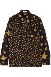 Bella Freud Little Prince Printed Silk Shirt Black