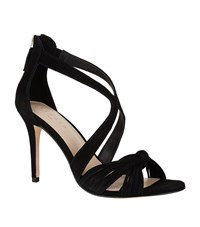 Sandro Twist Bow Sandals Black