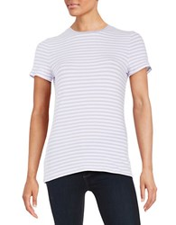 Lord And Taylor Petite Striped Tee African Violet