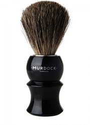 Murdock London Badger White Hair Shaving Brush Black