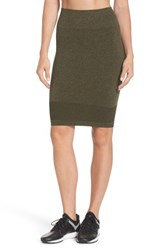 Climawear Aura Seamless Skirt Deep Lichen Green Black