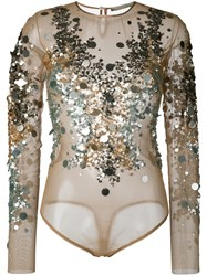 Amen Sequined Blouse Nude Neutrals