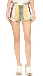 Mason By Michelle Mason Trouser Shorts Multi Stripe