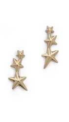 Gabriela Artigas Triple Shooting Star Earrings Gold