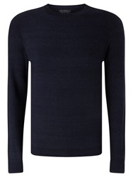 John Lewis And Co. Cotton Moss Crew Neck Jumper Indigo