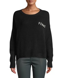360 Sweater Femme Scoop Neck Cashmere Black White