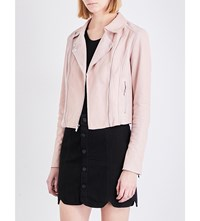 Paige Silvie Suede And Leather Jacket Flora