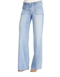 Jessica Simpson Charleston Wide Leg Denim Pants Light Wash