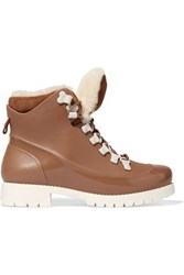 Australia Luxe Collective Rubstep Shearling And Rubber Boots Brown