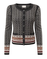 East Fairisle Cardigan Grey