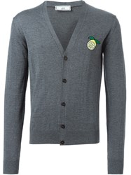 Ami Alexandre Mattiussi Lemon Patch Cardigan Grey