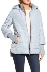 Kenneth Cole New York Hooded Puffer Jacket Oyster