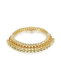 A Z Collection Three Tone Choker Gold