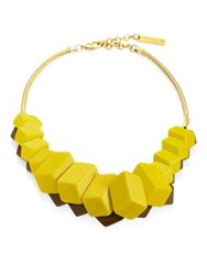 Lafayette 148 New York Cubist Reversible Necklace Plaintain Shtk