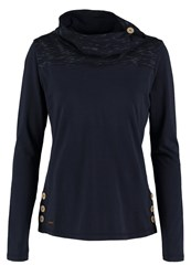Ragwear Willow Long Sleeved Top Navy Dark Blue
