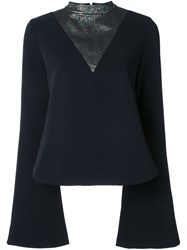 Ellery Metallic Detail Blouse Black