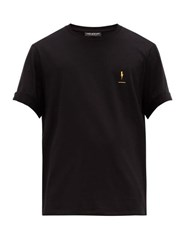 Neil Barrett Commemorative Print Cotton Jersey T Shirt Black