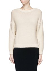 Vince Drop Shoulder Sweater White