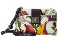 Sakroots Artist Circle Smartphone Crossbody White Peace Cross Body Handbags Multi