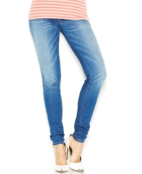 Guess Mid Rise Power Curvy Skinny Jeans Chula Vista Wash