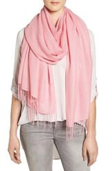Nordstrom Women's Tissue Weight Wool And Cashmere Scarf Pink Shore