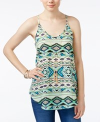 Amy Byer Bcx Juniors' Tribal Print Necklace Tank Top Tribal Multi