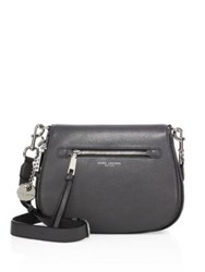 Marc By Marc Jacobs Recruit Leather Saddle Bag Shadow Mink Black