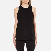 Alexander Wang Women's Tail Tank Shirt With Stud Closure Jet