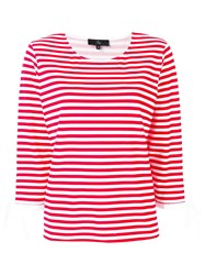 Fay Striped T Shirt Red