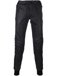 Les Hommes Cuffed Tapered Trousers Black