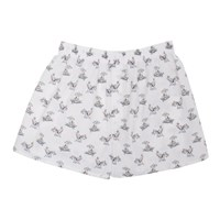 Sunspel White Sorimachi Cross Word Boxers