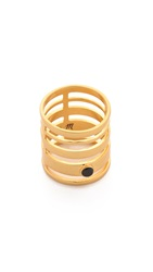 Madewell Stack Stone Ring Vintage Gold