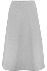 Etre Cecile Stretch Cotton Jersey Skirt Light Gray