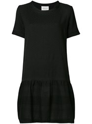 Cecilie Copenhagen Flared T Shirt Dress Black