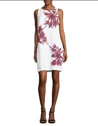 Tommy Bahama Lavatera Leis Floral Shift Dress White