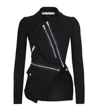 Givenchy Asymmetrical Zip Jacket Female Black