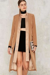 Lavish Alice Like It's Your Job Blazer Coat Brown