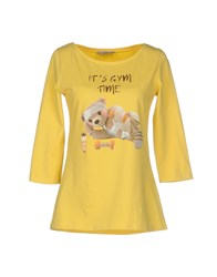 Just For You Topwear T Shirts Women Yellow