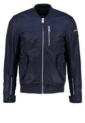 Replay Bomber Jacket Dark Blue