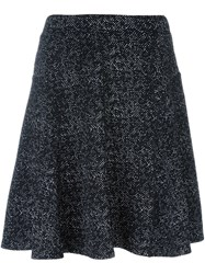 Steffen Schraut Flocked A Line Skirt Black