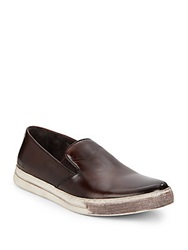 Kenneth Cole Double Play Leather Slip Ons Brown