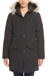 Women's Penfield 'Hoosac' Genuine Coyote Fur Trim Down Parka Black