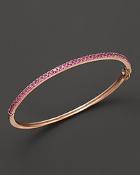 Bloomingdale's Pink Sapphire Bangle In 14K Rose Gold Rose Gold Pink Sapphire