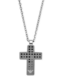 Emporio Armani Stainless Steel Cross Pendant Necklace Egs2008040 Silver