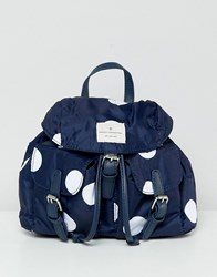 French Connection Missy Spot Backpack Duchess Blue White Black